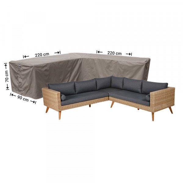 Hülle für L-Form Gartensofa 220 x 220 x 90 H: 70 cm