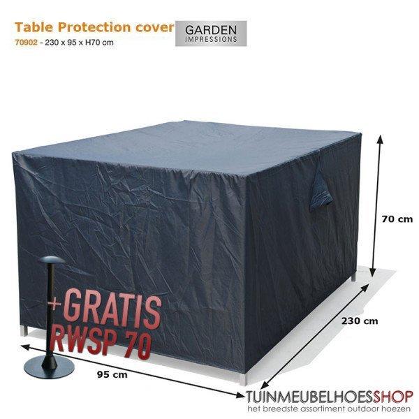 Loungebank - Gartentisch Hülle 230 x 95 H:70 cm
