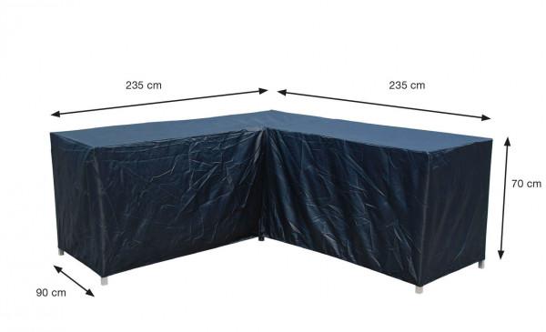 Eck-Lounge-Hülle L-form 235 x 235 x 90 H:70 cm