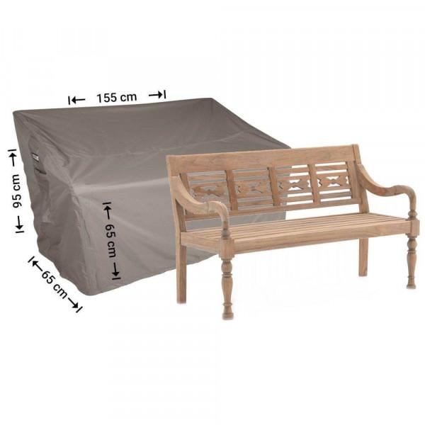 Abdeckung für Gartenbank 155 x 65 H: 95/65 cm