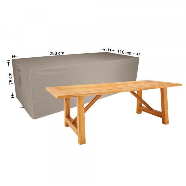 Abdeckplane für Gartentische 250 x 110 H: 75 cm