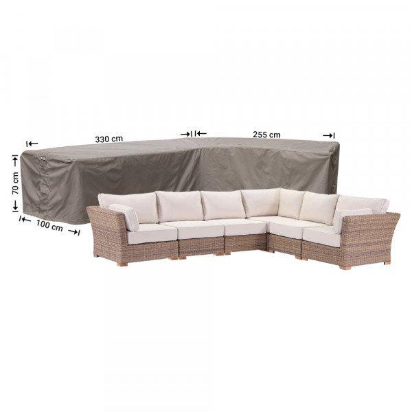 Wetterschutz für Lounge Eckset 330 x 255 x 100 H: 70 cm