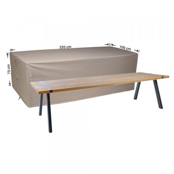 Abdeckung für Gartentisch 320 x 100 H: 75 cm