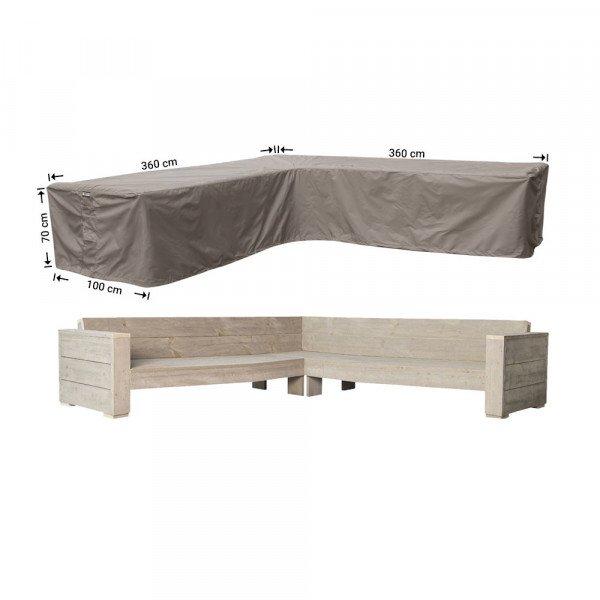 Schutzhülle für Lounge L-Form 360 x 360 x 100 H: 70 cm