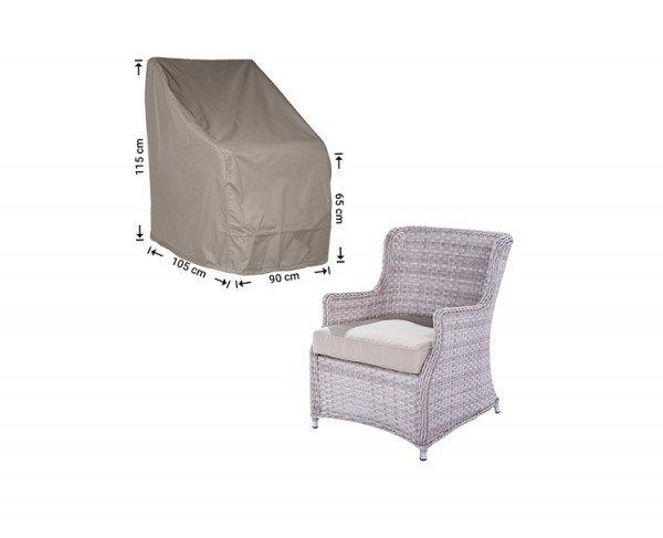 Schutzhülle für Gartenstühle mit hoher Rückenlehne 105 x 90 H: 115/65 cm