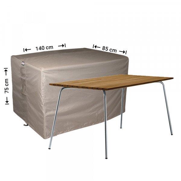 Abdeckung für Gartentisch 140 x 85 H: 75 cm