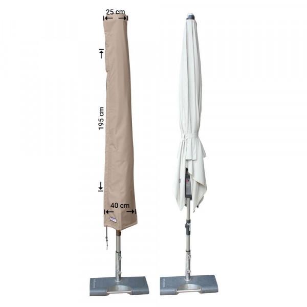 Abdeckhaube für Sonnenschirm H: 195 cm