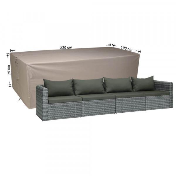 Lounge Bank Gartenmöbel Abdeckung 320 x 100 H: 75 cm