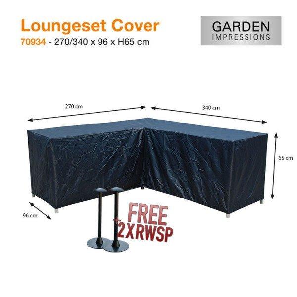 Schutzhülle Lounge Set L-form 340 x 270 x 96 H:65 cm