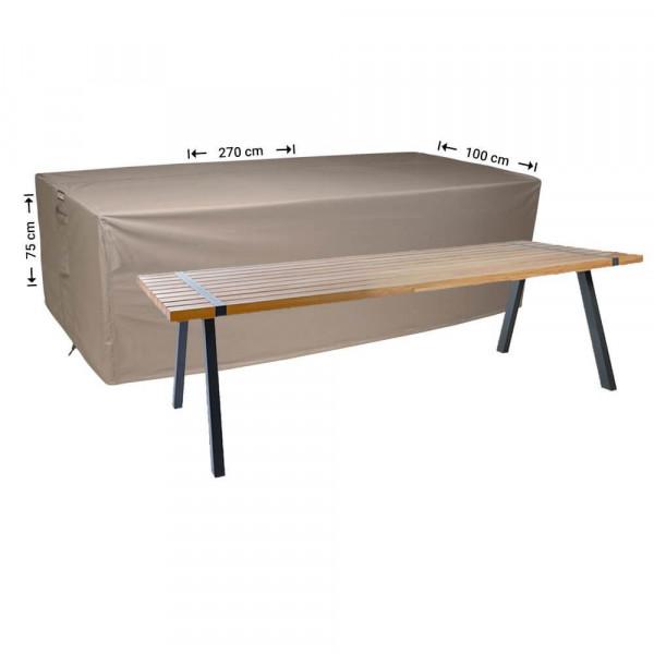 Abdeckung für rechteckige Gartentisch 270 x 100 cm