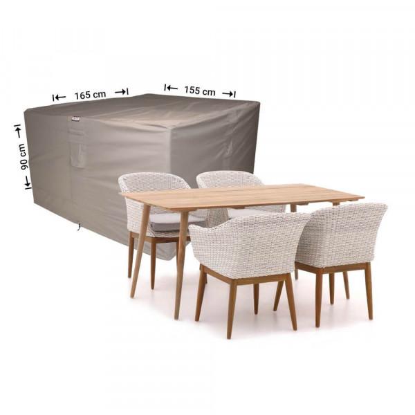 Abdeckplane für Garten-Tisch und Stühle 165 x 155 H: 90 cm