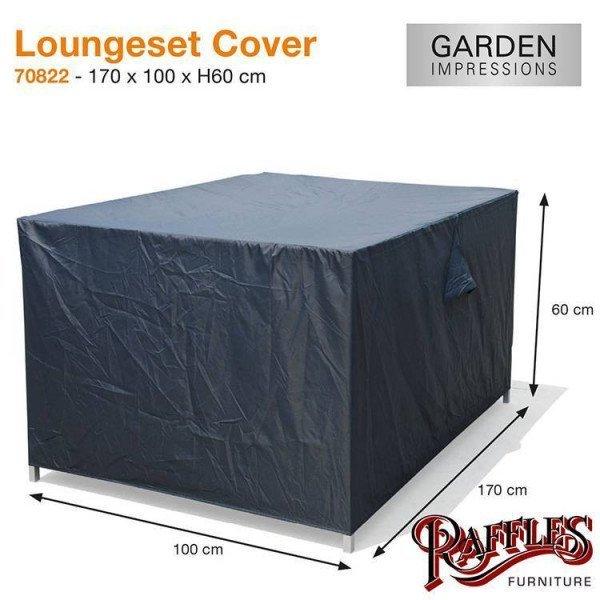 Loungebank-Hülle 170 x 100 H:60 cm