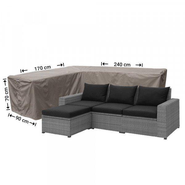 L-Form Abdeckschutz 240 x 170 x 90 H: 70 cm
