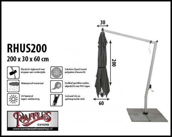 Abdeckung für einen hängenden Sonnenschirm H: 200 cm