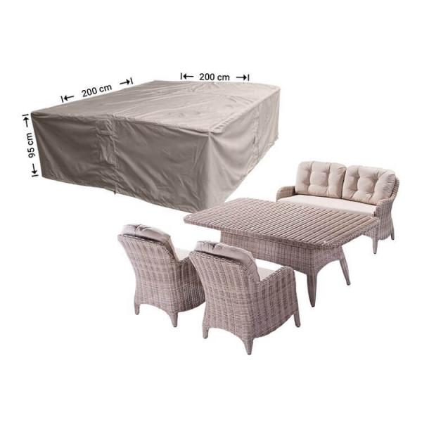Schutzhülle für Geflecht Lounge-Möbelset 200 x 200 H: 95 cm