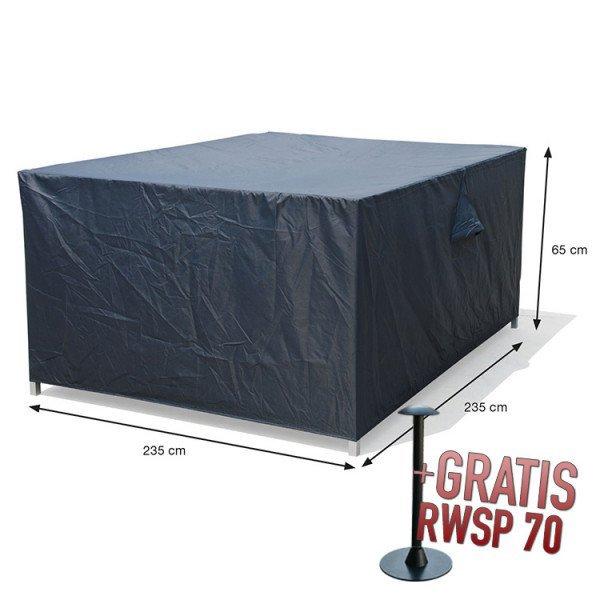 Lounge-Set-Hülle quadratisch 235 x 235 H:65 cm