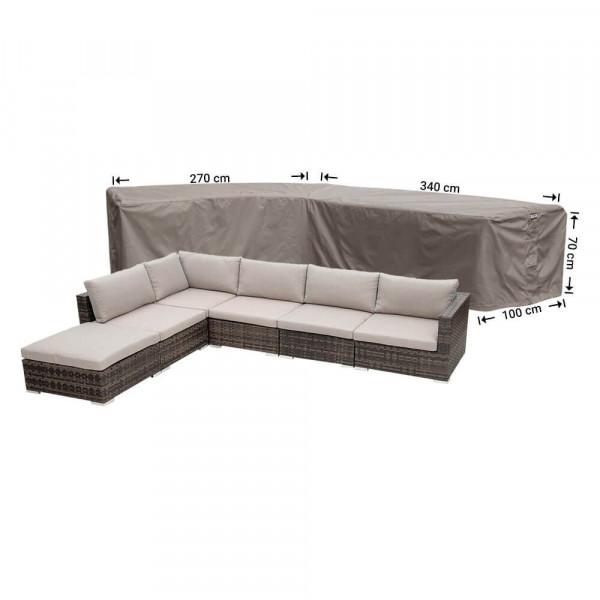 Wetterschutz für Lounge Eckset 340 x 270 x 100 H: 70 cm