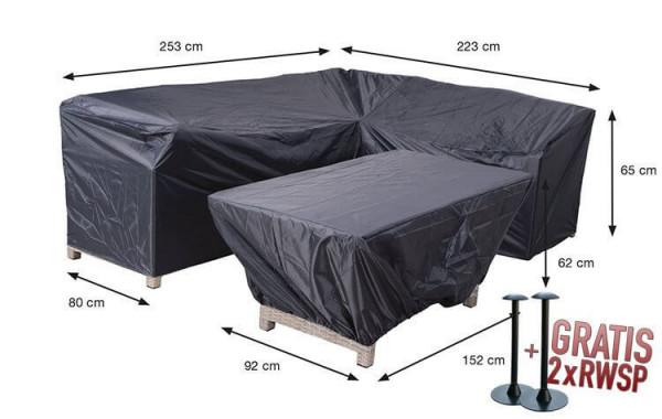 Schutzhülle für Lounge-dining Ecksofa und Tisch 253 x 223 x 80 H:65 cm