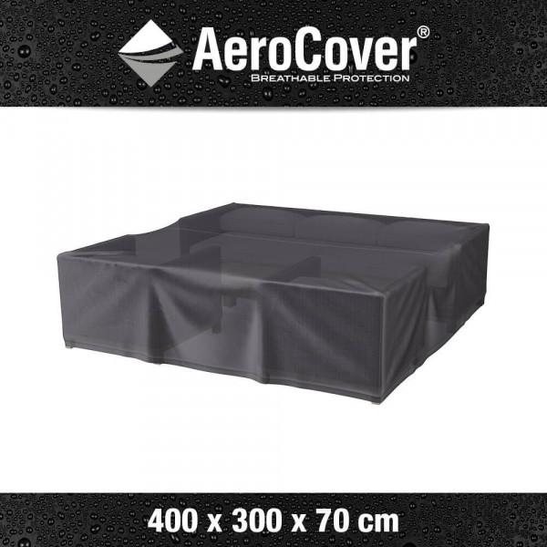 Abdeckplane Schutz für Garten-Lounge Garnitur 400 x 300 H: 70 cm