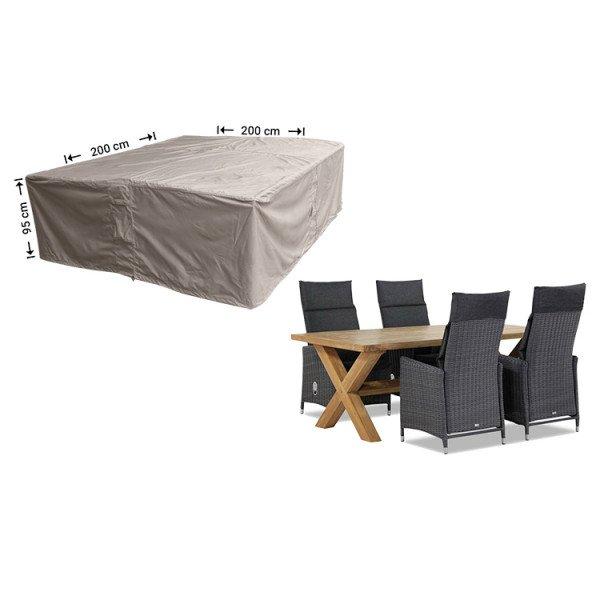 Abdeckung für rechteckige Sitzgarnituren 200 x 200 cm