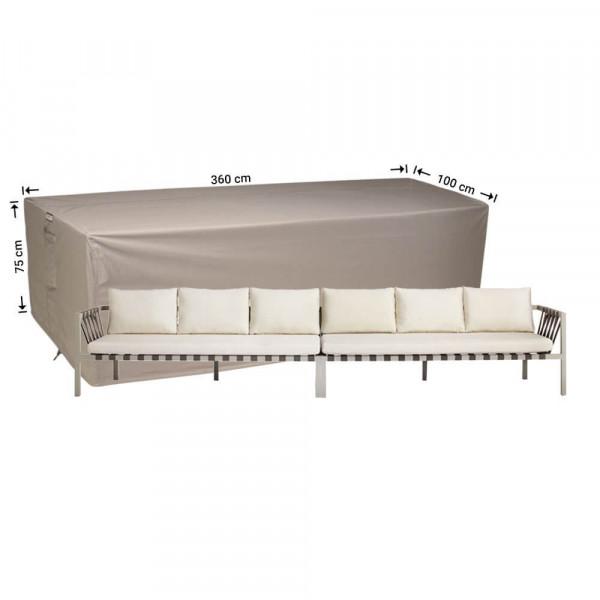 Schutzhülle für Rattan Lounge Bank 360 x 100 H: 75 cm