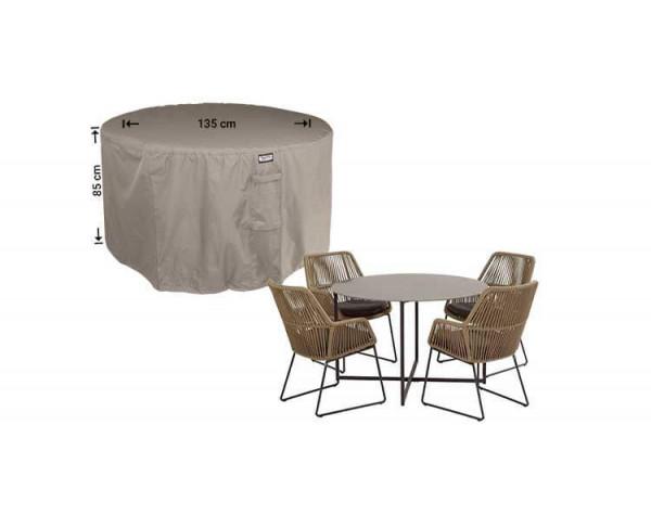 Wetterhaube für runder Tisch mit 4 Gartenstühle Ø 135 H: 85 cm