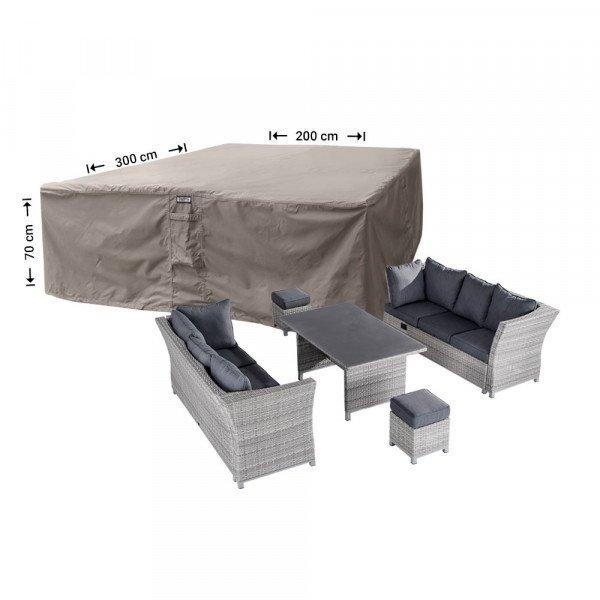 Schutzhaube für Geflecht Lounge Garnitur 300 x 200 H: 70 cm
