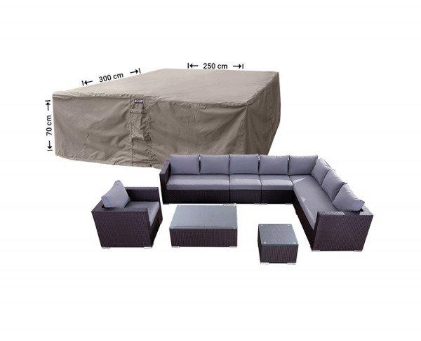 Abdeckplane für Lounge Sitzgruppe 300 x 250 H: 70 cm