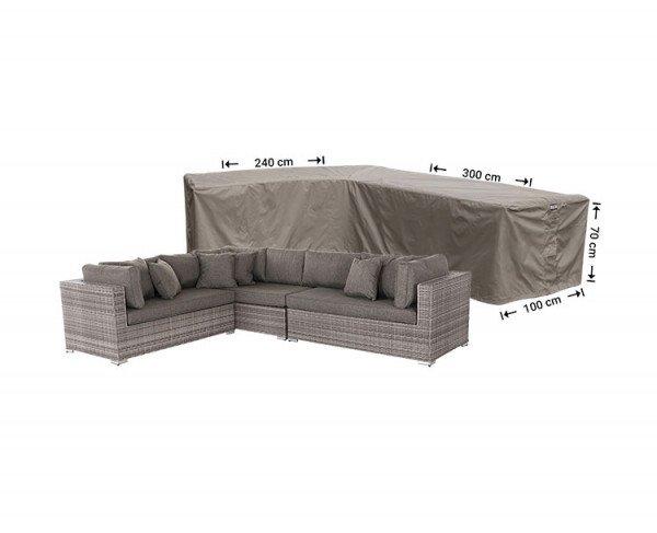 Abdeckung für Lounge Eckset 300 x 240 x 100 H: 70 cm