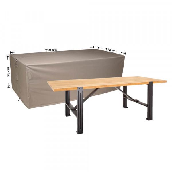 Abdeckplane für Gartentische 210 x 110 H: 75 cm