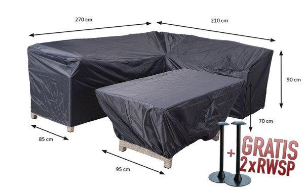 Abdeckung für Lounge Dining Eckbank und Tisch 270 x 210 x 85 H:90 cm