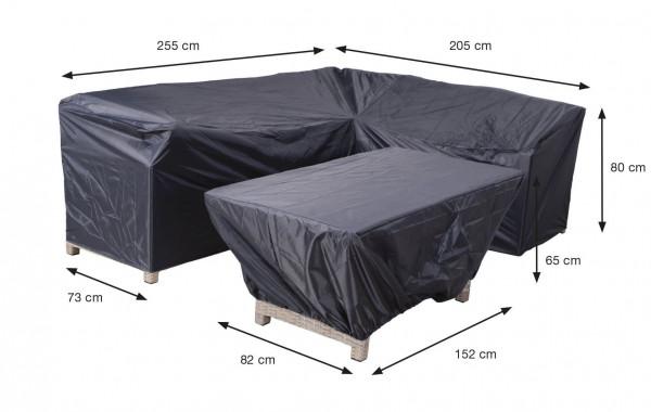 Schutzhülle Lounge Dining Eckbank und Tisch 255 x 205 x 73 H:80 cm