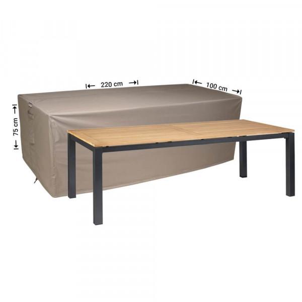 Schutzhülle für rechteckige Gartentisch 220 x 100 H: 75 cm