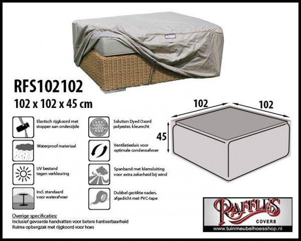 Schutzhülle für Geflecht Lounge Tisch 102 x 102 H: 45 cm