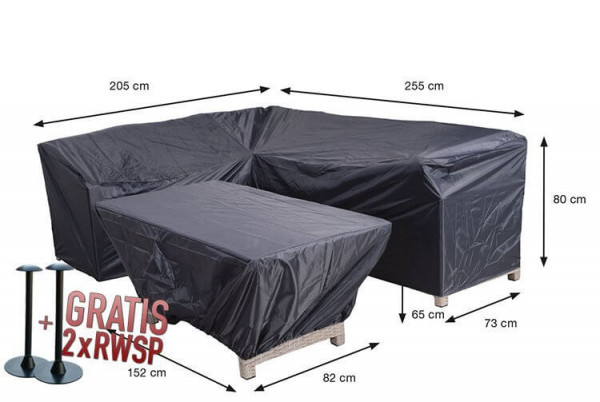 Schutzhülle Lounge Dining Ecksofa 255 x 205 x 73 H:80 cm