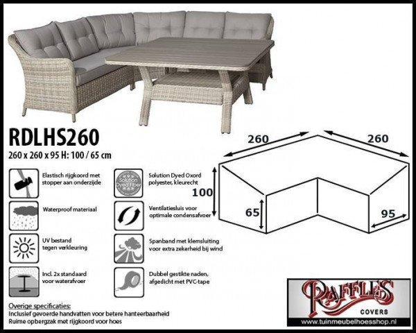 Schutzhülle Lounge Sofa 260 x 260 x 95 H: 100/65 cm