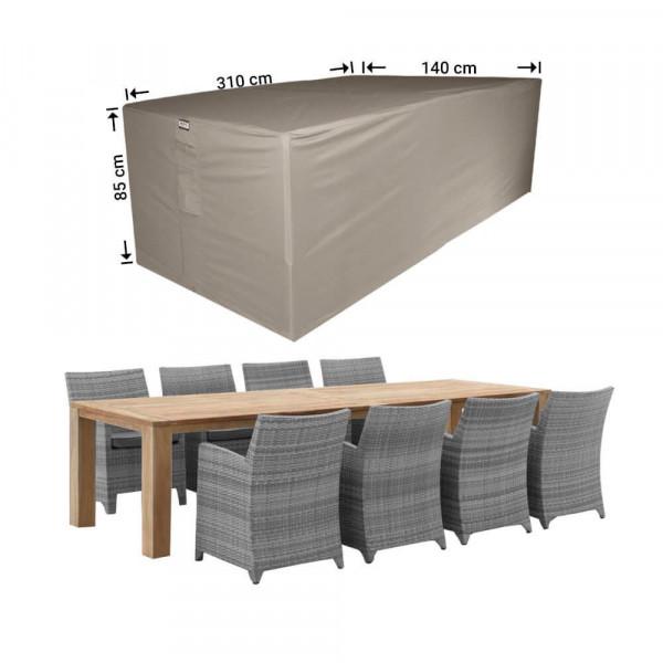 Abdeckhaube für Gartenmöbel Sitzgruppe 310 x 140 H: 85 cm