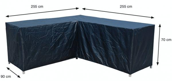 Lounge Set Schutzhülle L-form 255 x 255 x 90 H:70 cm
