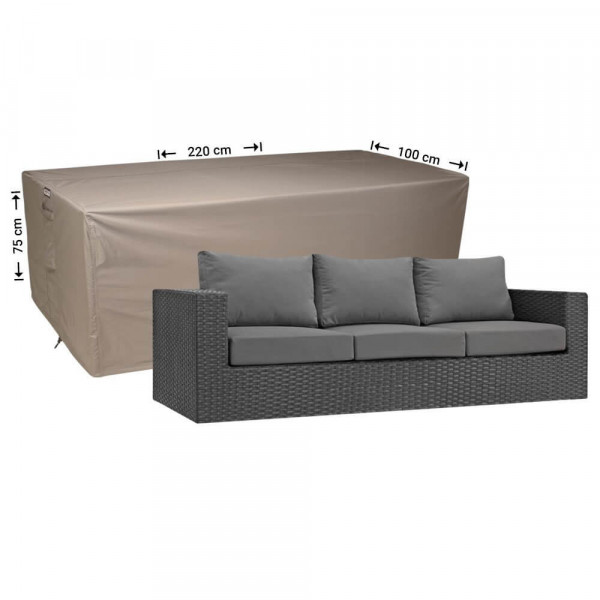 Hülle für Rattan Lounge Bank 220 x 100 H: 75 cm