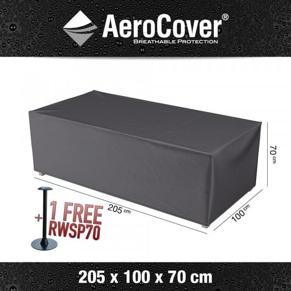 Schutzhülle für Rattan Lounge Sofa 205 x 100 H: 70 cm