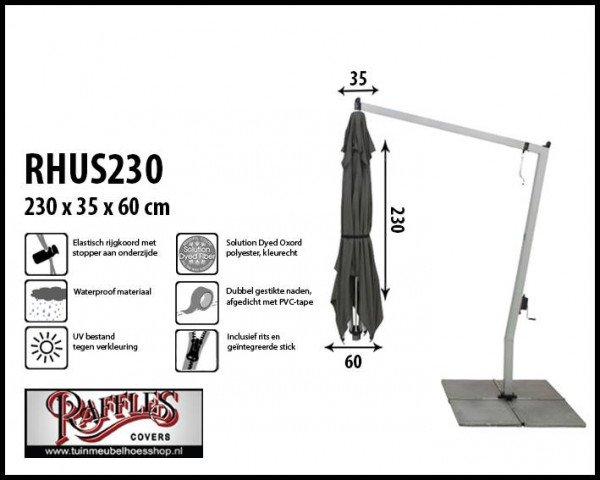 Abdeckung für einen hängenden Sonnenschirm H: 230 cm