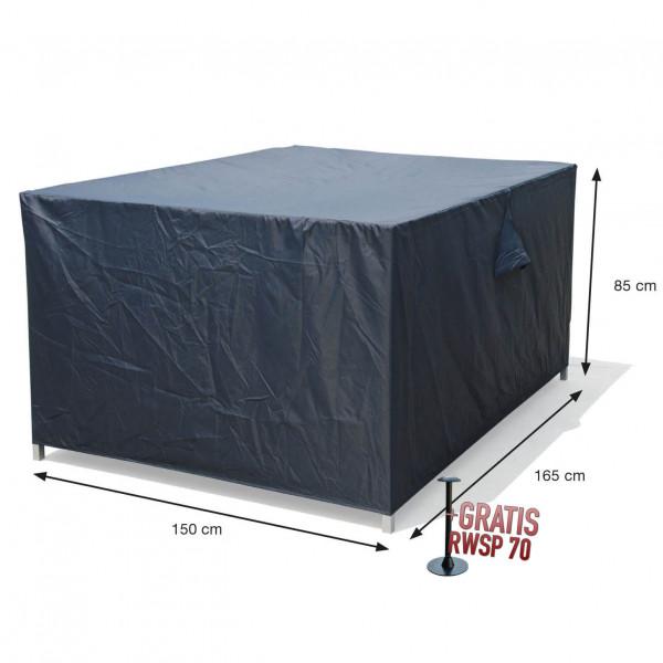 Wetterhaube Schutz für rechteckigen Tisch mit Stühle 165 x 150 H:85 cm