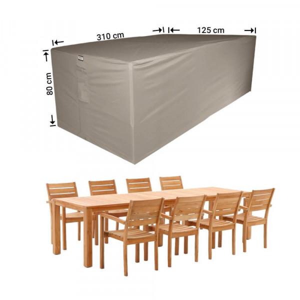 Schutzhülle für Garten Sitzgruppe 310 x 125 H: 80 cm