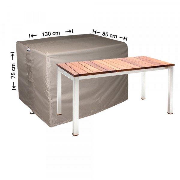 Abdeckhaube für rechteckige Gartentisch 130 x 80 H: 75 cm