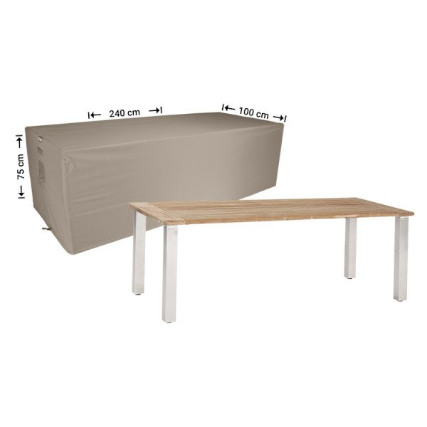 Schutzhülle für rechteckige Gartentisch 240 x 100 H: 75 cm
