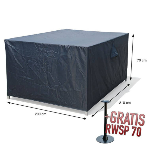 Lounge-Set-Hülle rechteckig 210 x 200 H:70 cm