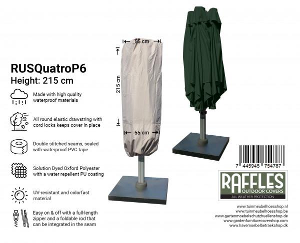 Abdeckung für P6 Terrasse Sonnenschirm mit 4 Bespannungen H: 215