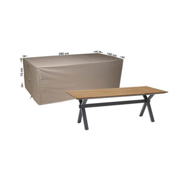 Rechteckige Gartentisch abdeckhaube 280 x 100 cm