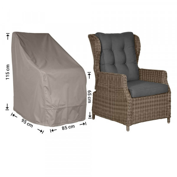 Schutzhülle für Gartenstühle mit hoher Rückenlehne 95 x 85 H: 115/65 cm