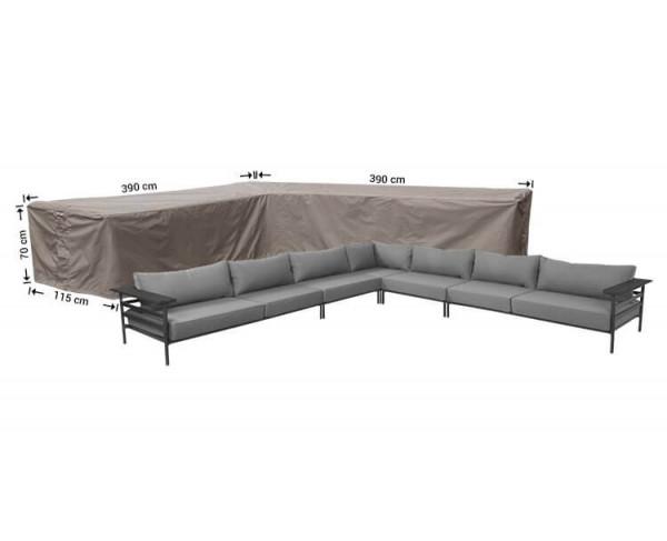 Loungemöbel Abdeckschutz L-Form 390 x 390 x 115 H: 70 cm
